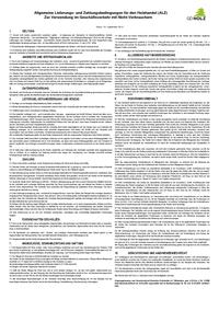 Allgemeine Lieferungs- und Zahlungsbedingungen für den Holzhandel