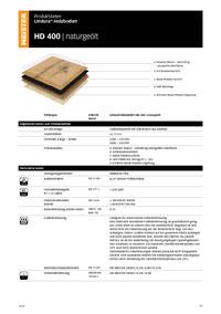 Produktdatenblatt Premium Lindura H400 naturgeölt